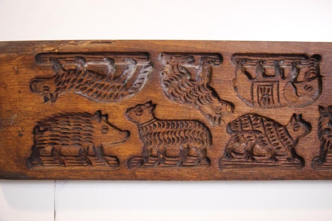 Folk Art Carved Wood German Springerle Cookie Mold - 2