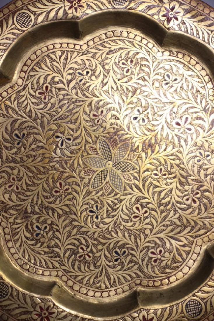 14 Tooled Middle Eastern Brass Plates - 4