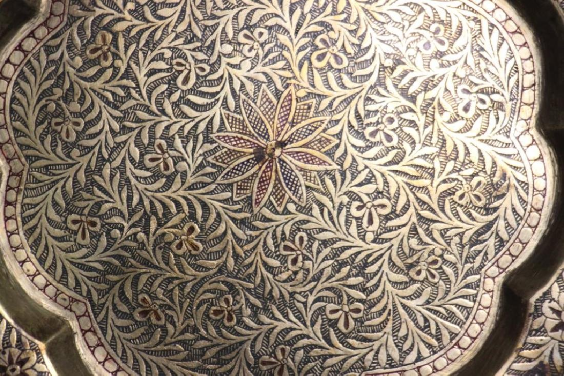 14 Tooled Middle Eastern Brass Plates - 8