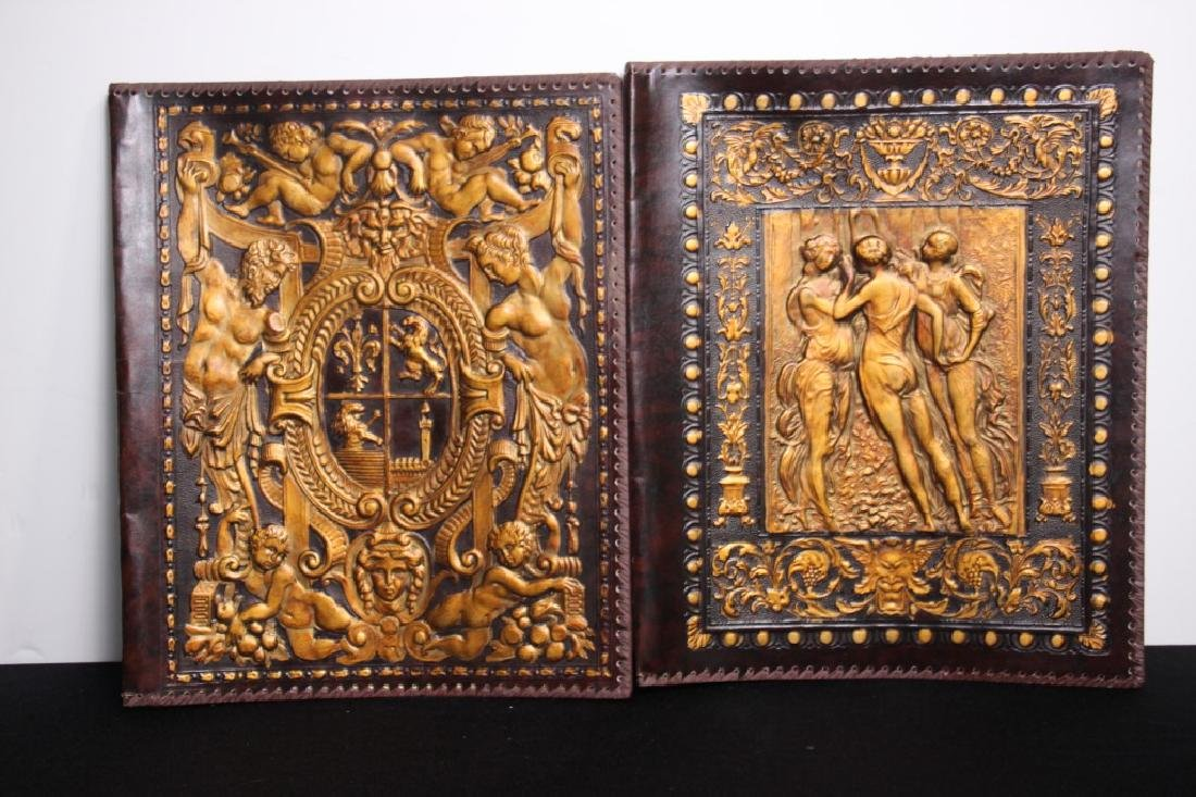 Greek Hand Tooled Leather Book/Portfolio Cover (2)