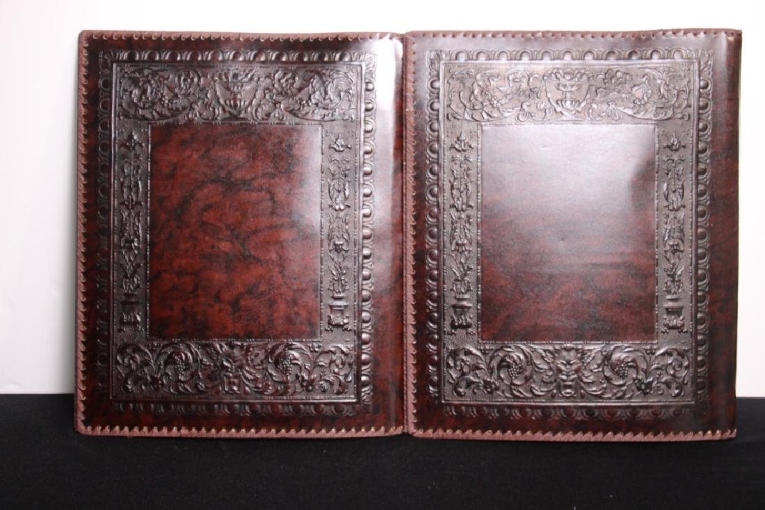 Greek Hand Tooled Leather Book/Portfolio Cover (2) - 2