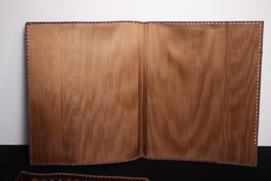 Greek Hand Tooled Leather Book/Portfolio Cover (2) - 3