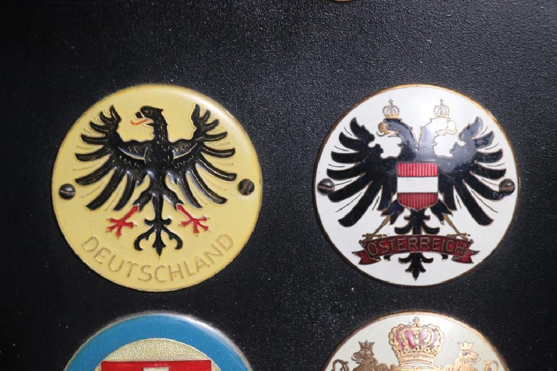 Porsche 911E Targa Plaque w/Country Emblems - 2