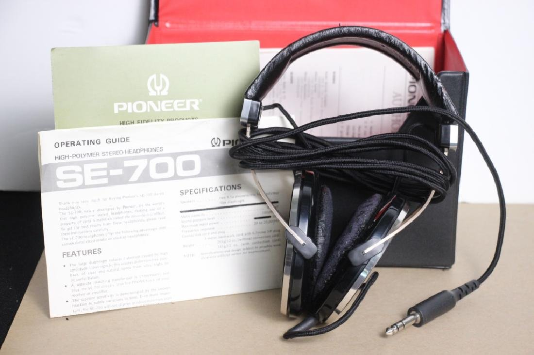 Pioneer High-Polymer Stereo Head Phones SE-700 - 2