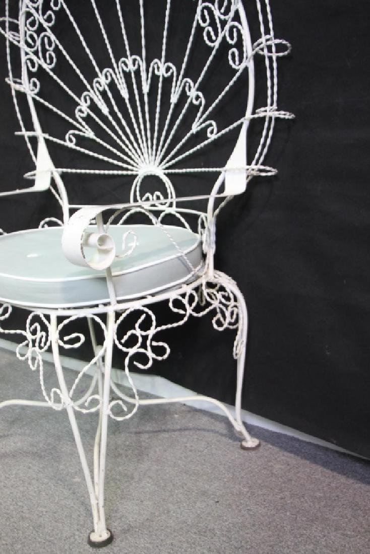 Victorian Style Peackock Back Wire Garden Seat - 4