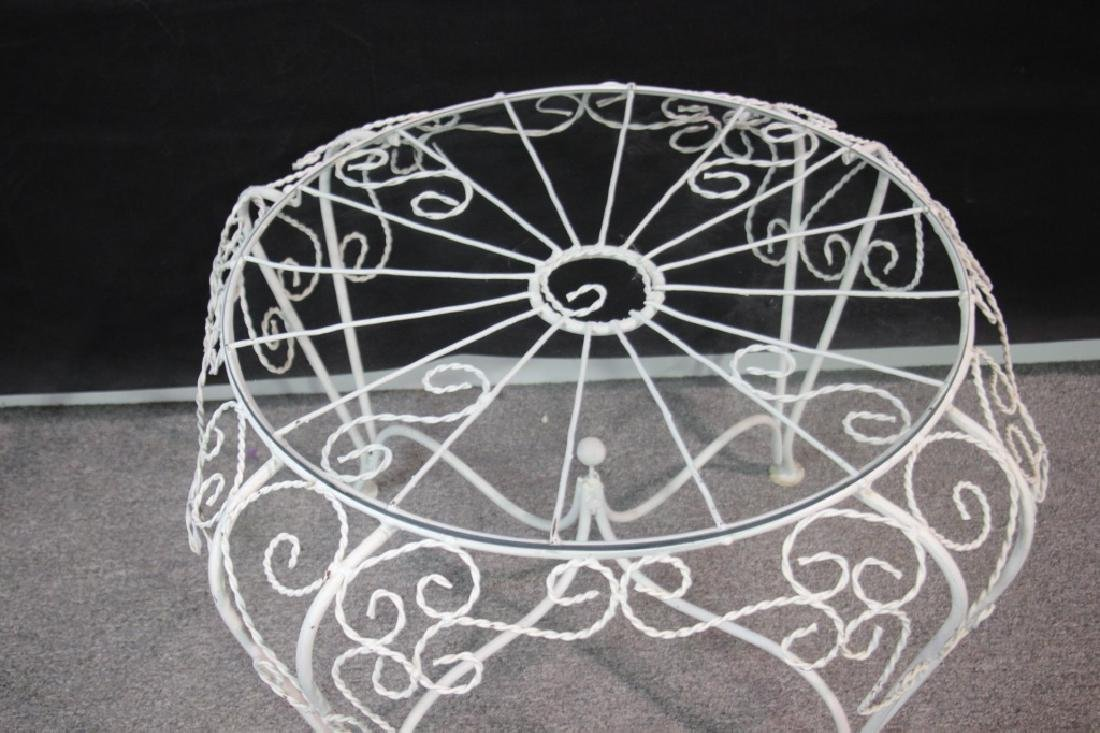 Outdoor Wire Side Table w/Glass Top - 2
