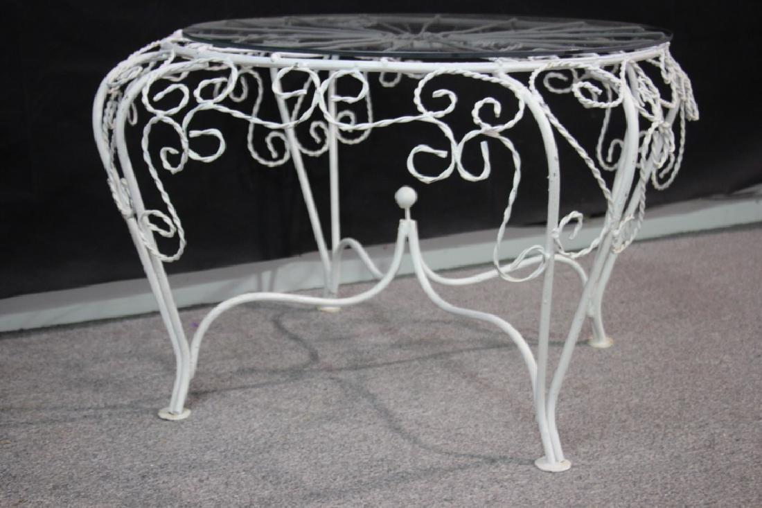 Outdoor Wire Side Table w/Glass Top - 3