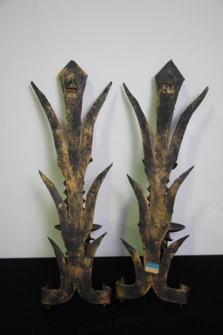 Wrought Iron Wall Sconces  (Spain) Pair - 2