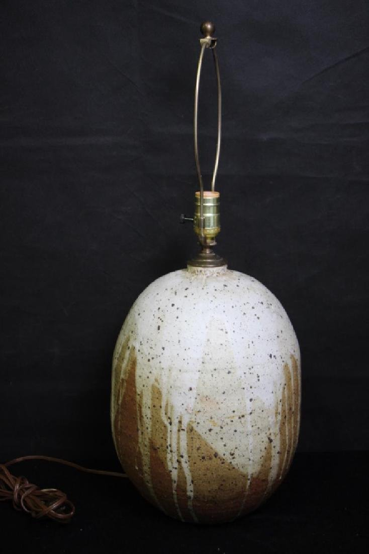 Hand Thrown Pottery Lamp