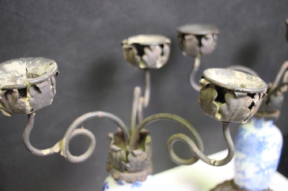 Ceramic Body 3-Arm Candle Holders (Pair) - 5