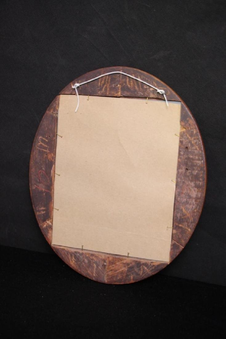 Round Wood Framed Mirror - 2