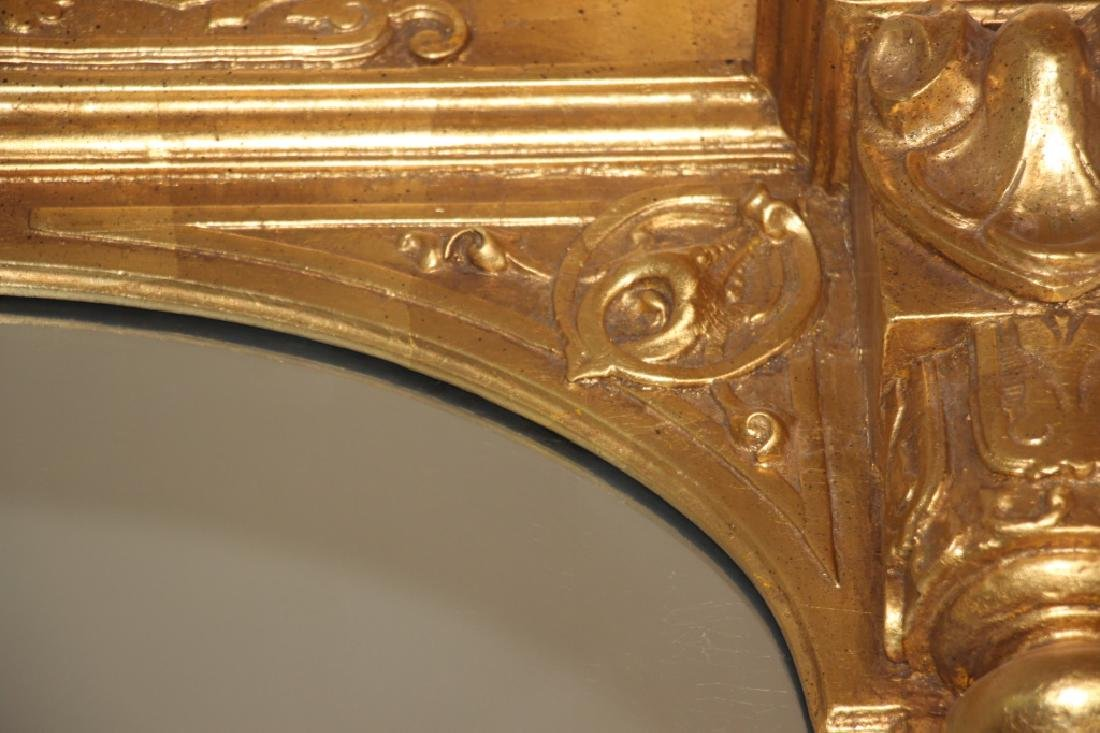 19th C. Monumental Gilt Wood Mirror - 12