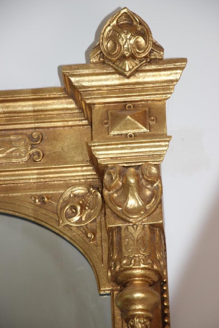 19th C. Monumental Gilt Wood Mirror - 8