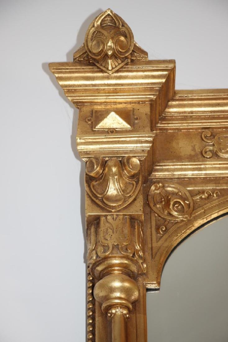 19th C. Monumental Gilt Wood Mirror - 9