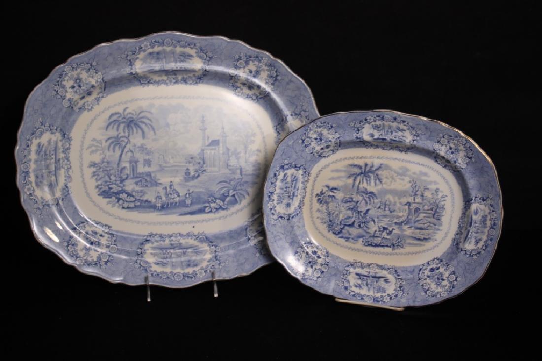 Antique Oriental Transferware Platters