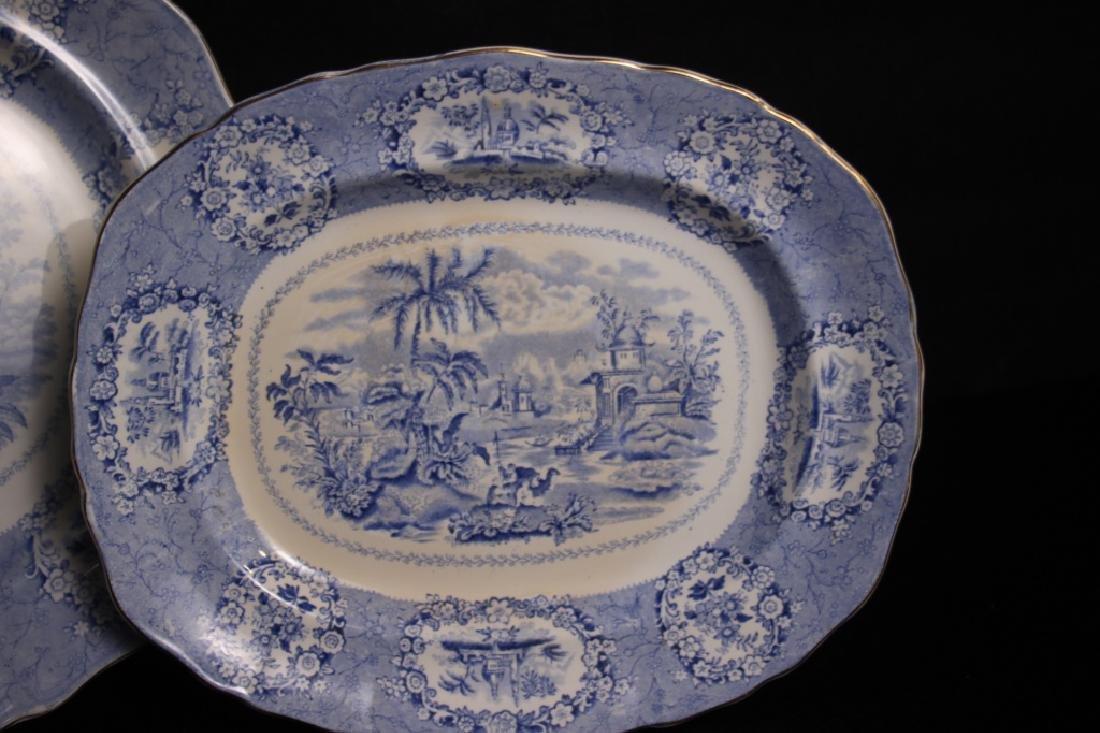 Antique Oriental Transferware Platters - 2