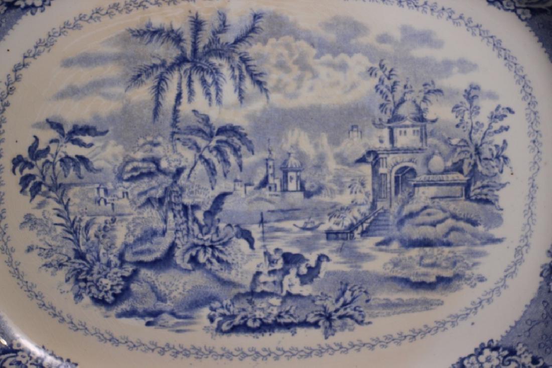 Antique Oriental Transferware Platters - 3
