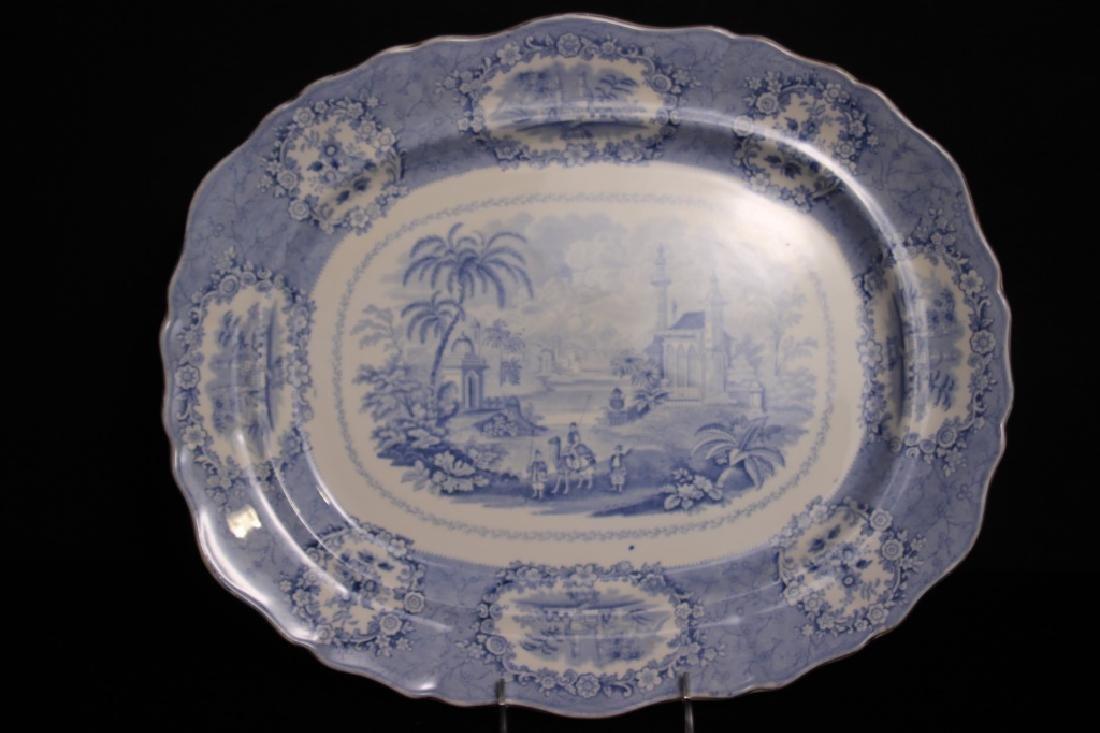 Antique Oriental Transferware Platters - 4