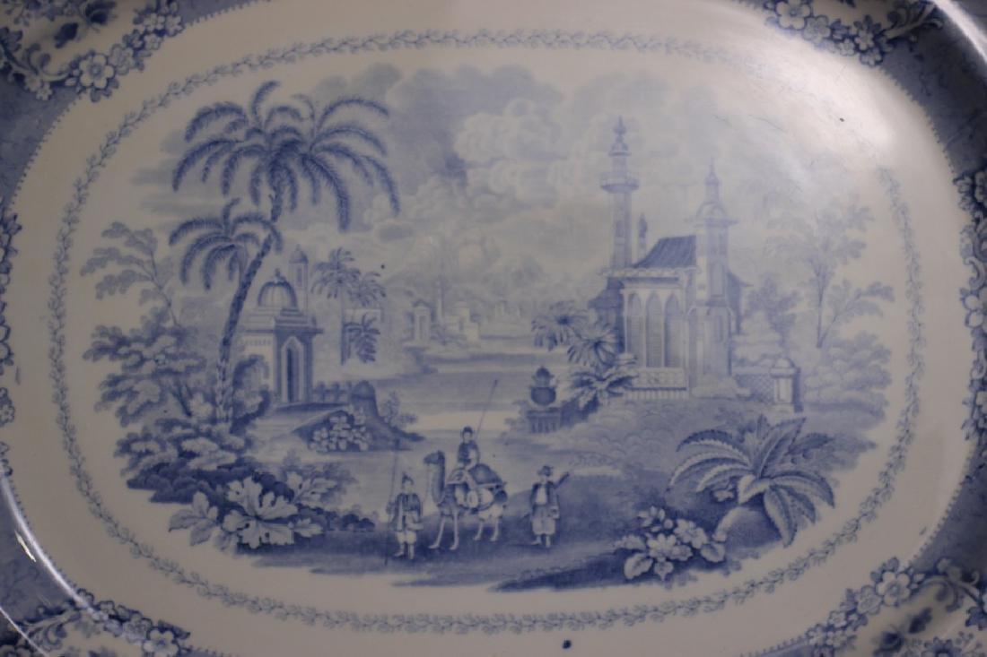 Antique Oriental Transferware Platters - 5