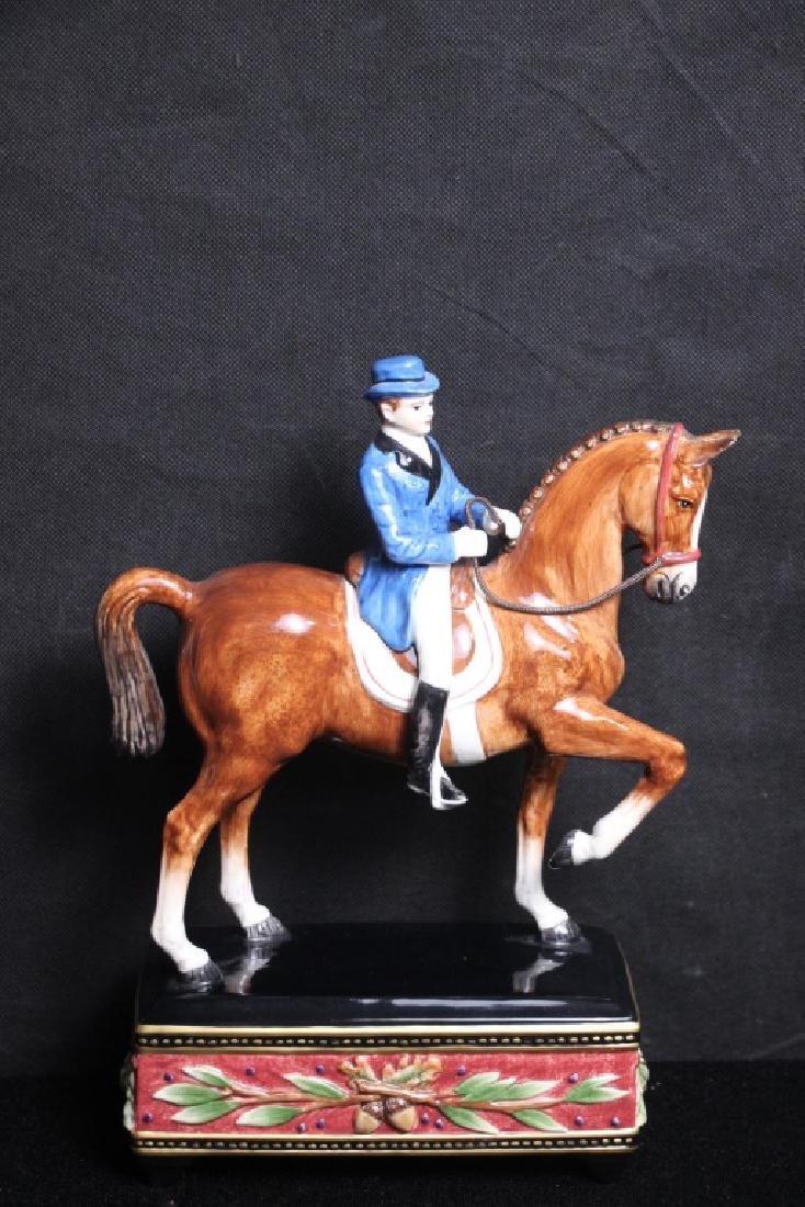 Horse & Rider Figurine Fitz & Floyd