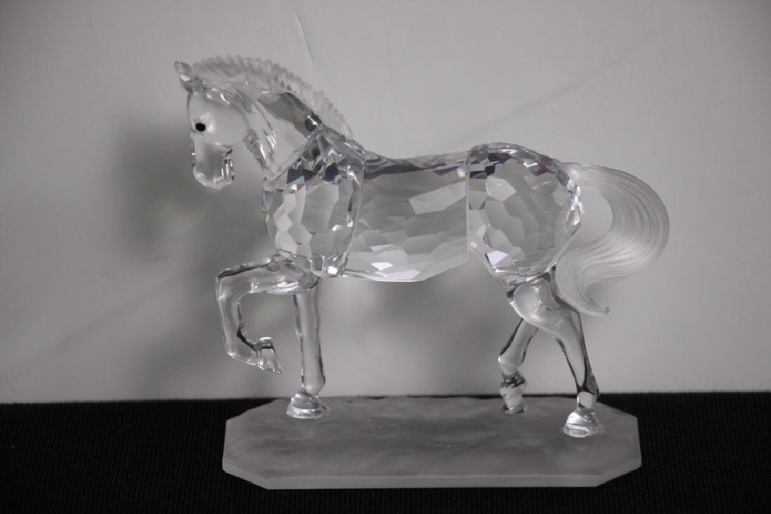 Crystal Horse on Base