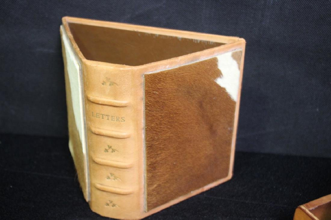 Western Cowhide Themed Desk Accessories - 5