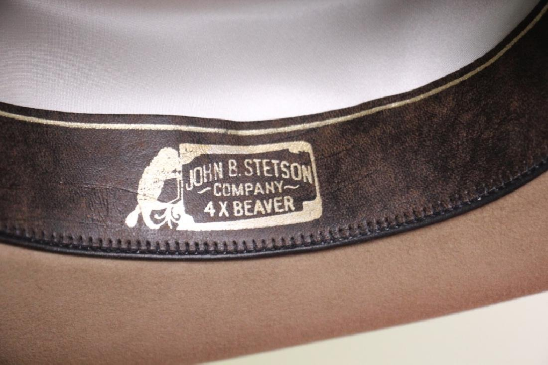 Stetson Cowboy Hat Beige Size 7 - 4