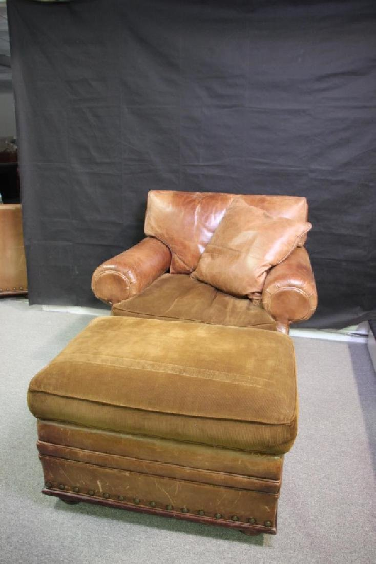 Ralph Lauren Leather Oversized Chair