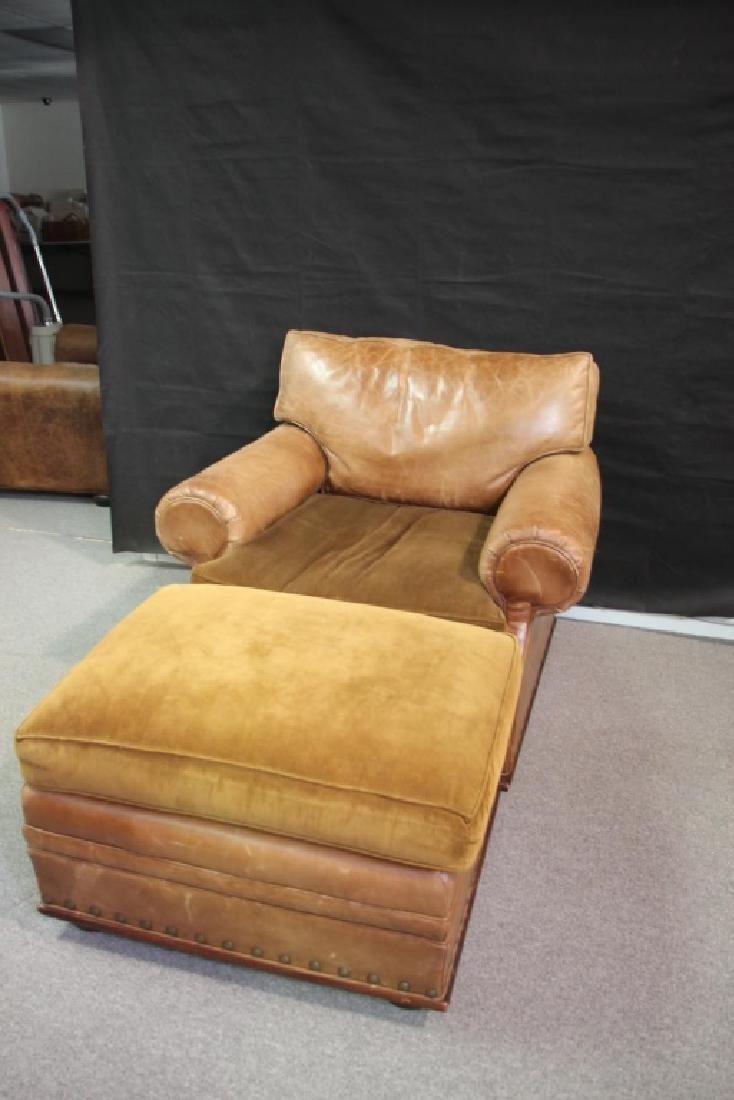 Ralph Lauren Leather Oversized Chair