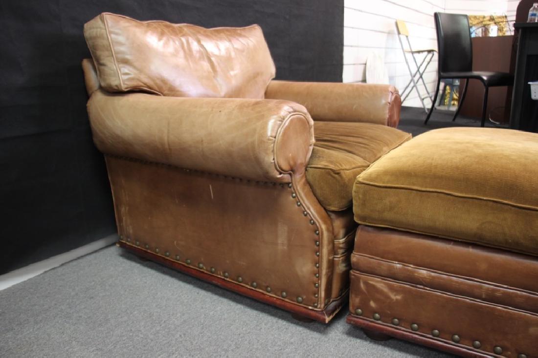 Ralph Lauren Leather Oversized Chair - 2
