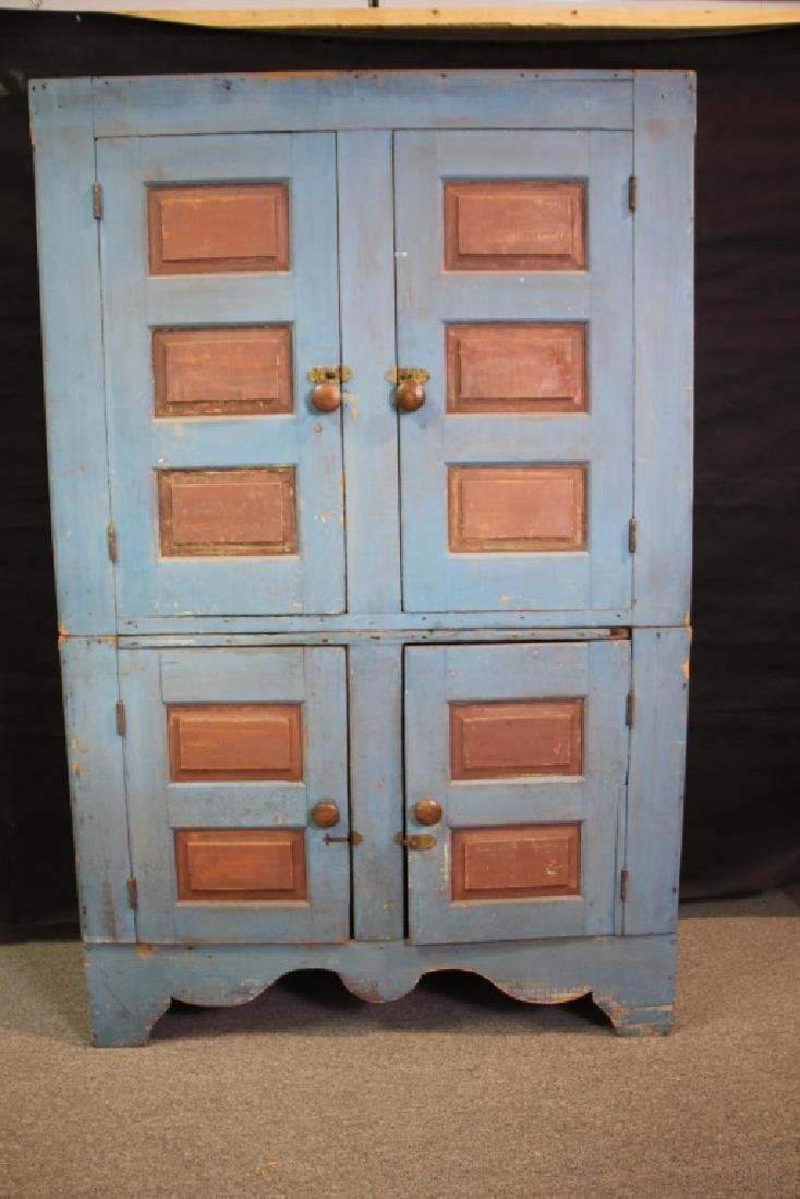 French Country Cupboard in Two Pieces