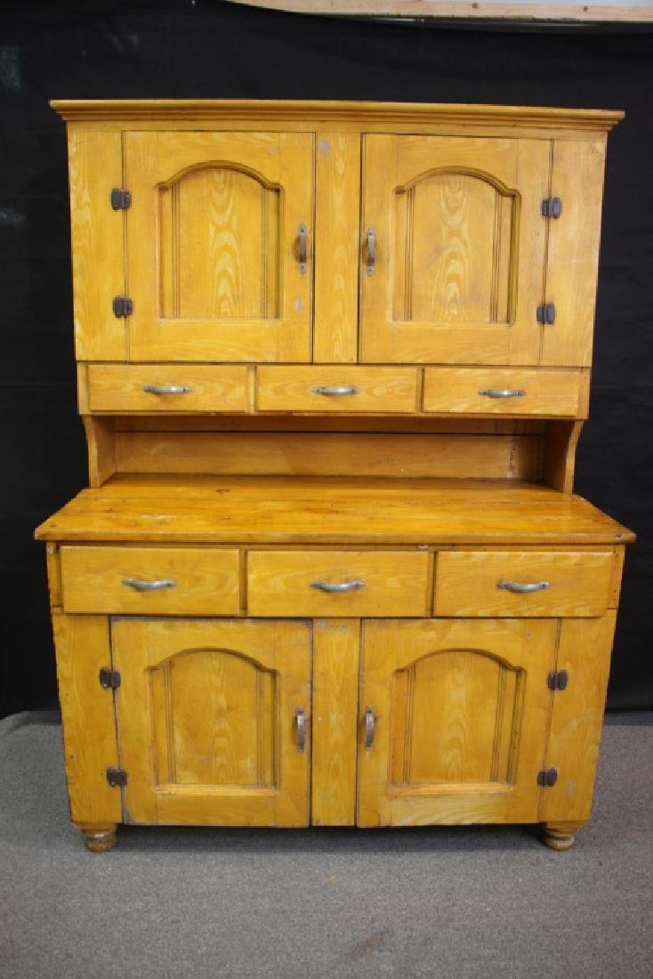 French Country Cupboard Hand Painted Yellow