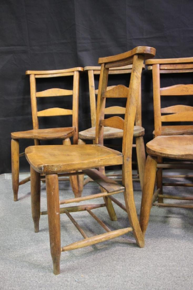 English Prayer Chairs From A Nunnery (7) - 3