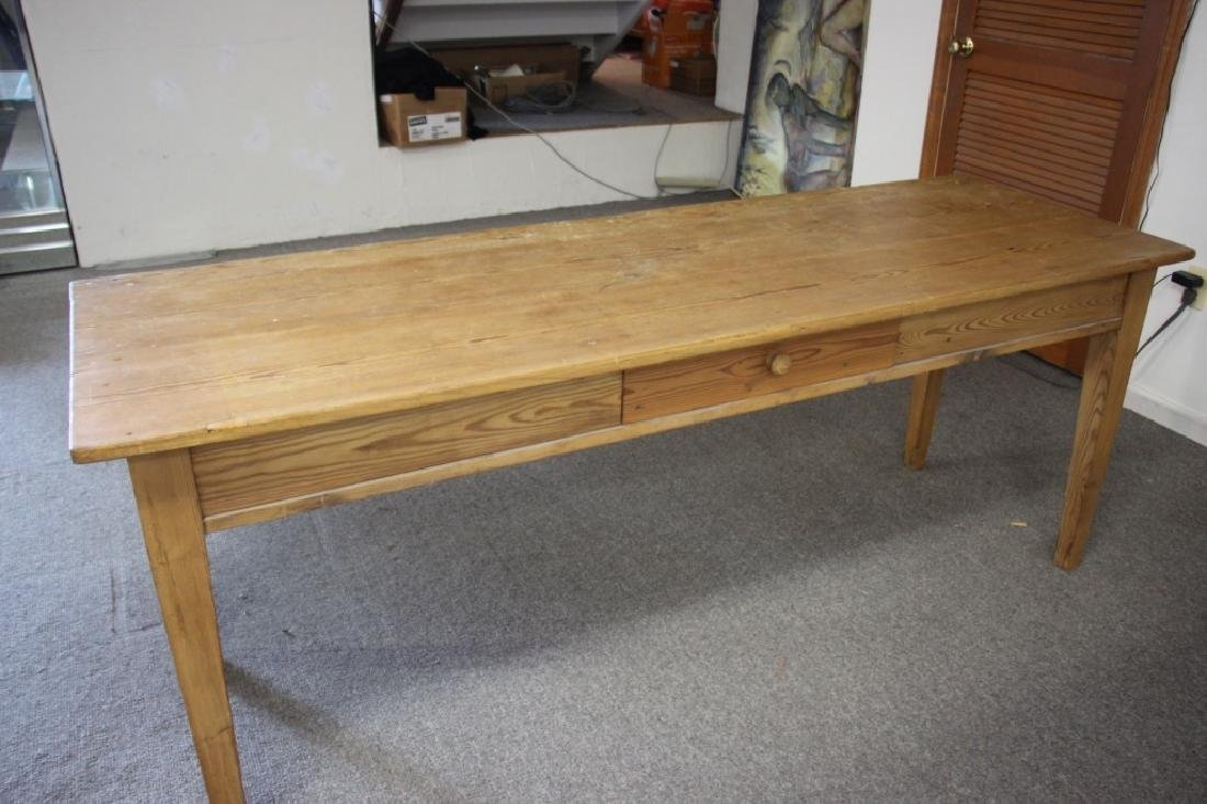 French Farm Table/Harvest Table, Pine