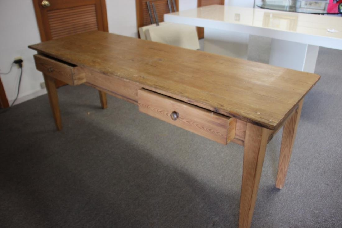 French Farm Table/Harvest Table, Pine - 3