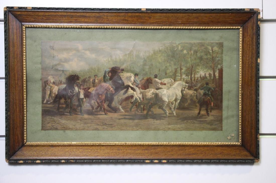 Art Print, Vintage, of Horses