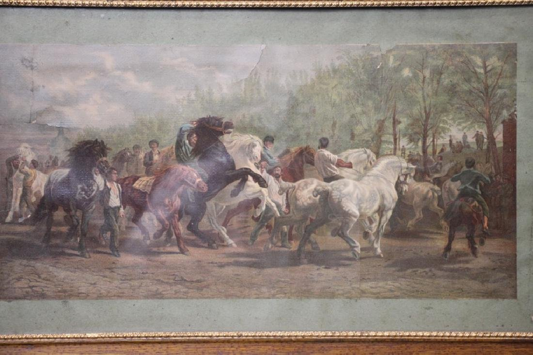 Art Print, Vintage, of Horses - 2