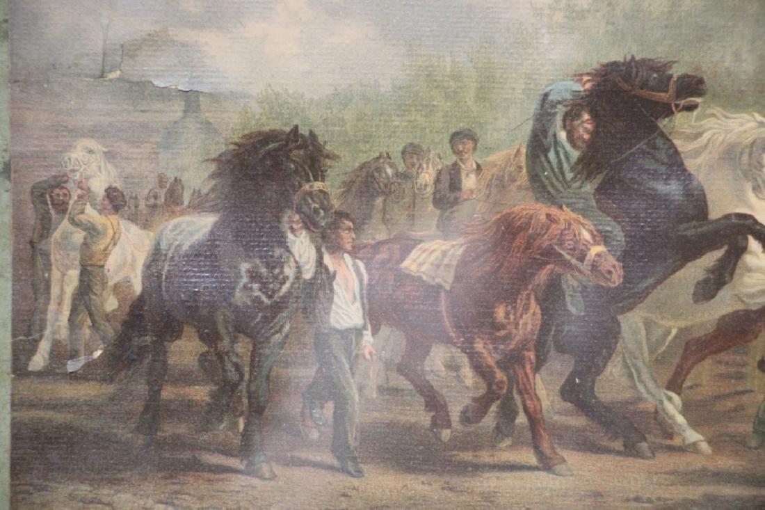 Art Print, Vintage, of Horses - 3