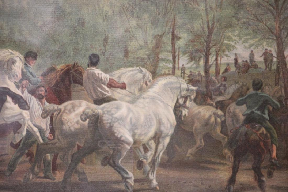 Art Print, Vintage, of Horses - 4