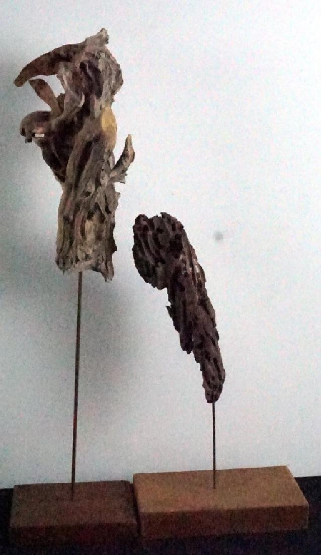 Bryan Hunt Drift Wood Sculpture (b.1947) (2 Pcs.)