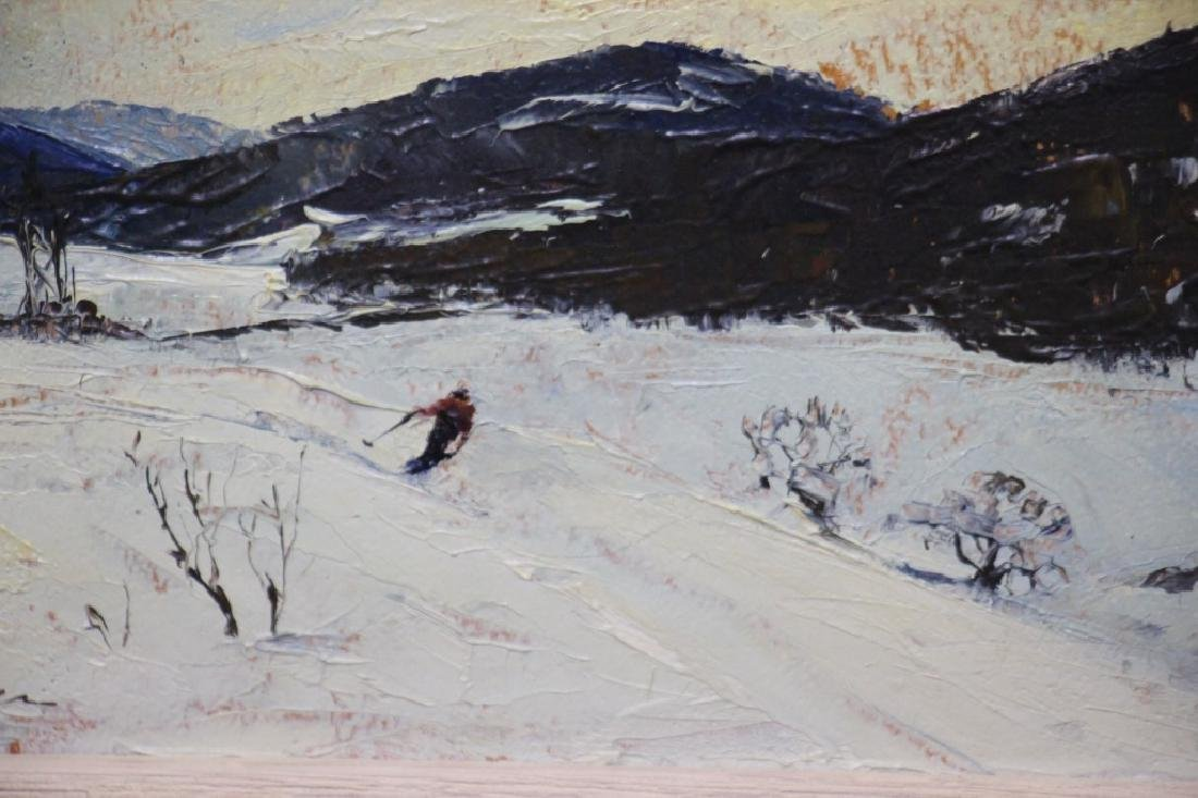 Churchill Ettinger, Snow Scene w/Skiier (1903-84) - 2