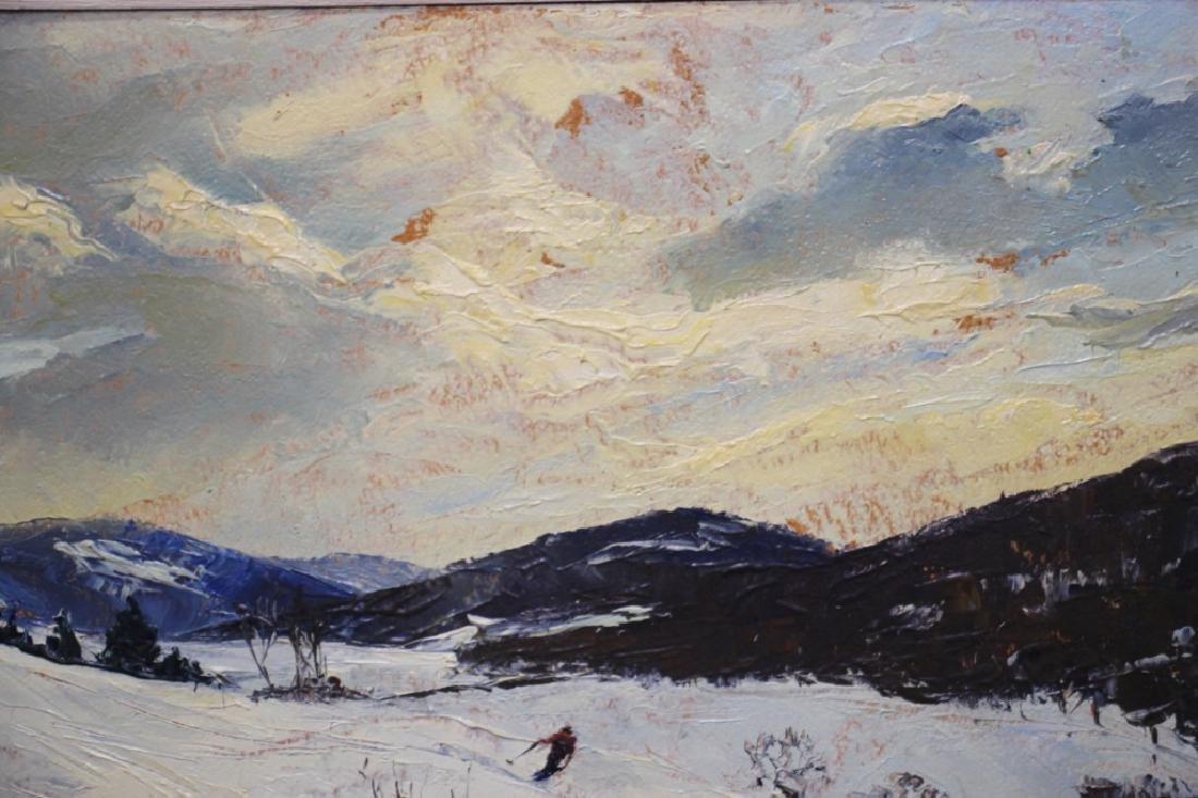 Churchill Ettinger, Snow Scene w/Skiier (1903-84) - 3