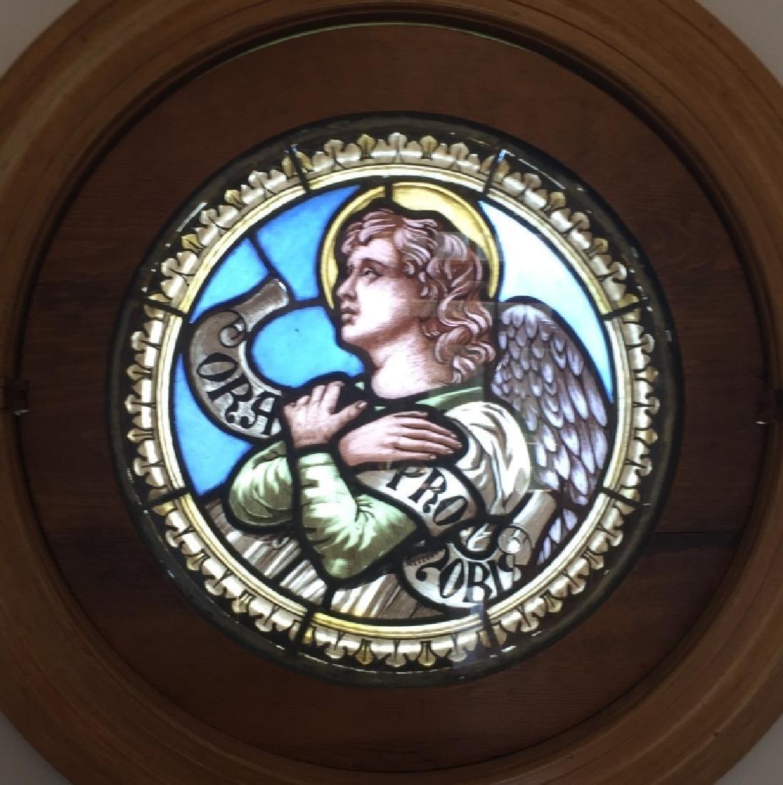 Stained Glass Round Window, Italian Origin