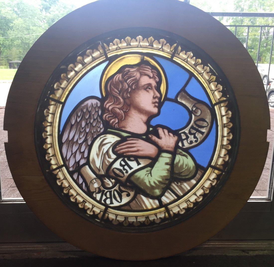 Stained Glass Round Window, Italian Origin - 2