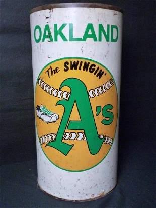 Oakland A's Waste Basket