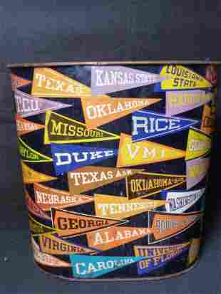 College Pendant Waste Basket