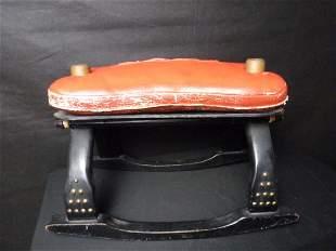 Rocking Stool w/Leather Cushion