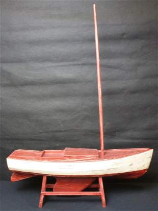 Model Sailboat on Stand