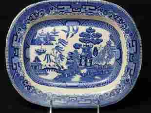 Willow Ware Platter