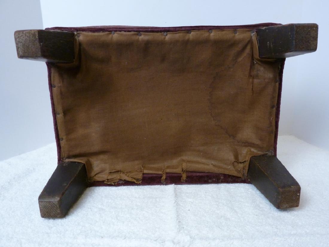 Velvet Cloth Covered Rectangular Foot Stool - 3